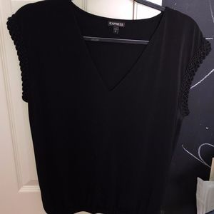 Sleeveless Black Express V-Neck